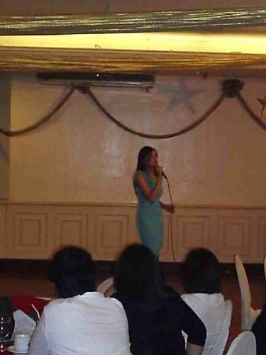 that's me! belting out last year's x-mas party.... - eww...