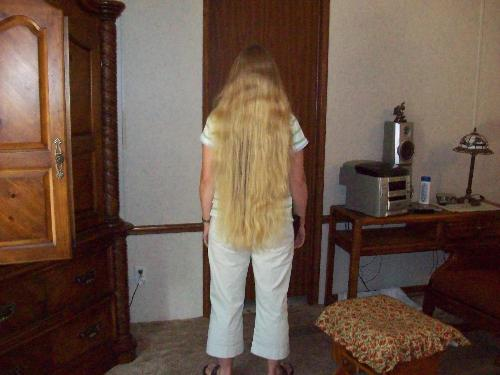 My daughters hair - Melony's long hair.