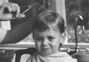bad haircut - poor little guy! Do you ever feel this way?