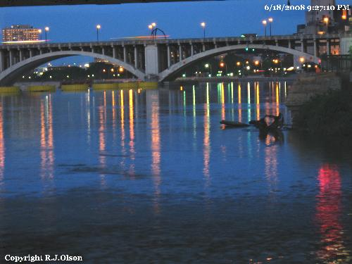 Mississippi River - The Mississippi River in Downtown Minneapolis Minnesota.