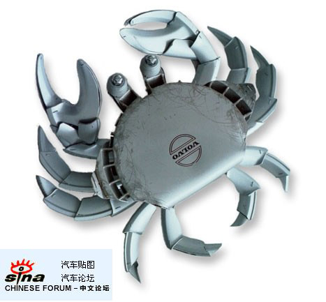 Crab - Use the crab of spare parts construction