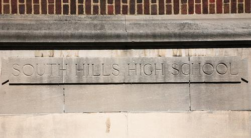 South Hill High School Sign - The sign from my high school. South Hills High School, Pittsburgh, PA.