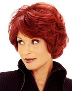 Cute red cropped wig - This is a style I'd like to try one day.