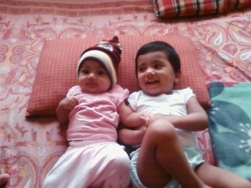 My sweet daughters - My sweet daughters Elder one is just 18 months old and smaller one is 5 months old!