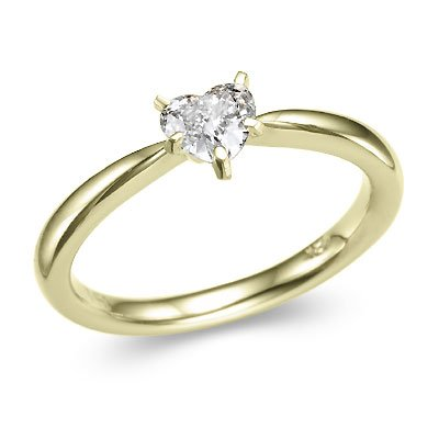 Her Ring Is Similiar To This One - Only it's much smaller but very dainty and pretty. She has a solid gold band to go with it too.