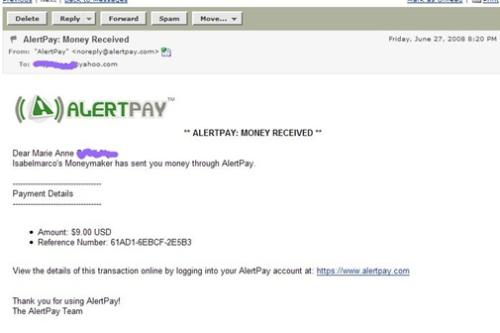 Payment Alert from Isabel Marco - Happy to get this email showing payment from IsabelMarco PTC site.