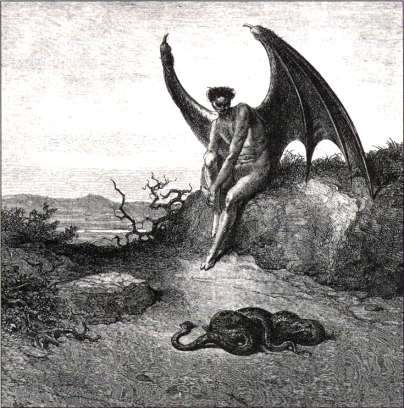 Artist conception of Lucifer - Lucifer, The Disgraced Archangel