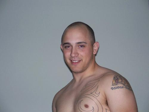 My husband  - My husband with a shaved chest.