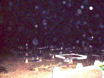THESE are orbs! - These orbs cannot be mistaken in this picture taken by me in a local cemetary!