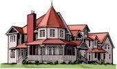 House - A Victorian house.