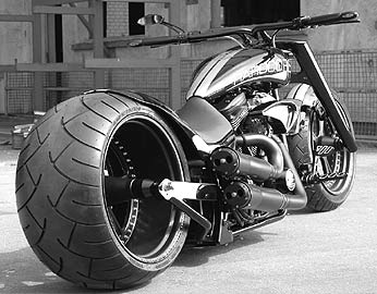 Truck tyres in a bike - A lovely bike, all would love to possess one and ride on them.