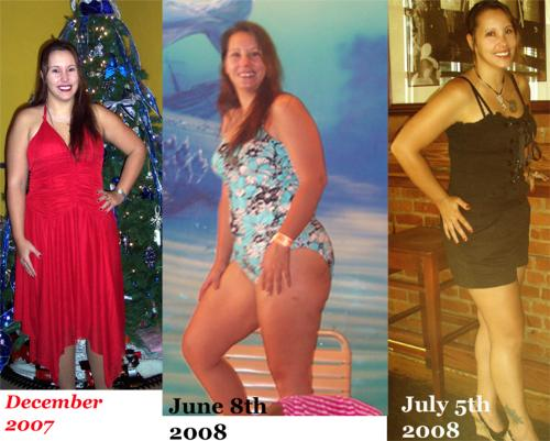 Fat to Not so fat - Me in December, June, and July.
