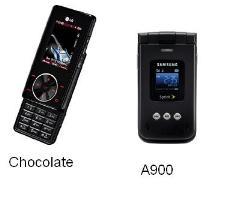 Cellphone - Chocolate vs A900