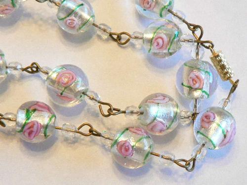 Glass Bead Necklace - Are these beads lampwork? How does one tell?