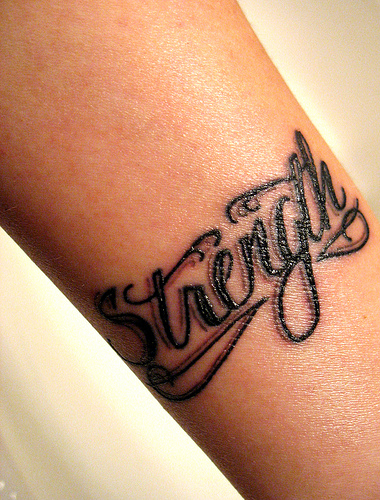 strength - found on the net... a tattoo of strength.