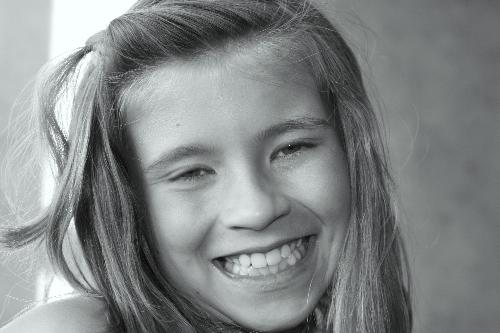 Black and Whites - This one is one of my granddaughters. She has such a pretty smile!