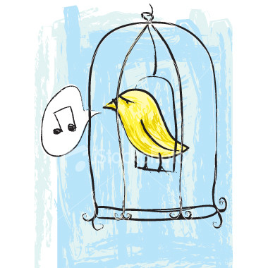 she should be set free. - caged bird.