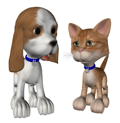 3D Puppy and Kitten - A pair of 3D baby animals made with DAZ 3D ...