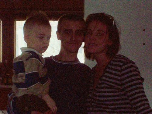 My daughter, new husband and son - A picture of my daughter (Emily) with her new husband (Bryan) and her son (Caleb)