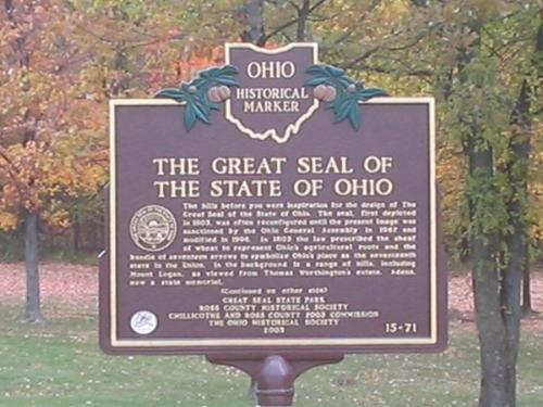 Great Seal of the State of Ohio - This is located at a park in Chillicothe, Ohio