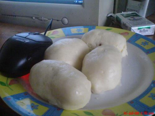 cheese hotdog pao, dimsum - my very own cheese hotdog dimsum. try it and you'll love it. good for afternoon breaks