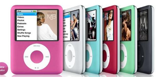iPod rainbow - different IPod colors