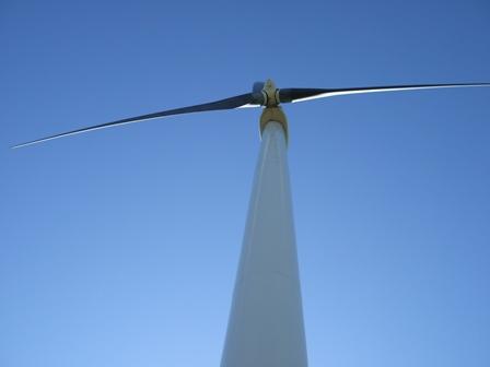 Wind turbine on the Buffalo Ridge - Standing below a wind turbine