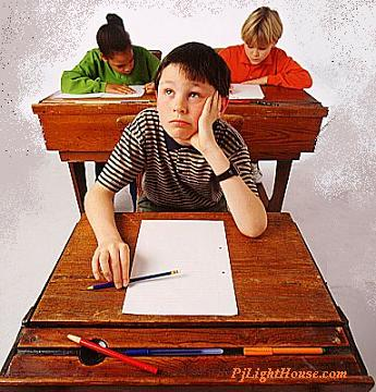 I hate exams!!!!! - a child giving exams!! with no training.