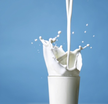a glass of milk - heres a glass of milk add whatever you want to it. Enjoy it..