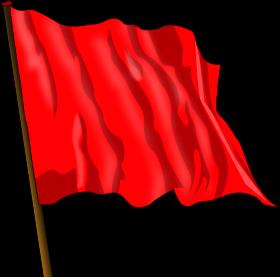 Communist Red - The red flag symbolising Communism