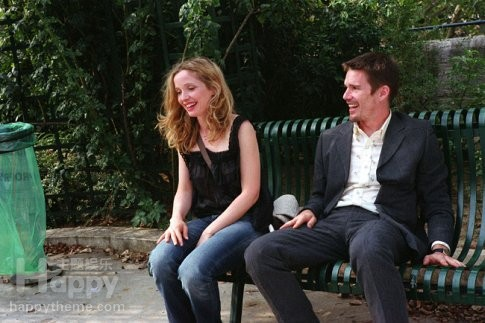 before sunset - When Jesse (Ethan Hawke) and Celine (Julie Delpy) met on a Eurail train, the connection between them was immediate and profound. The 14-hour relationship that followed, as the pair explored the spontaneous and unexpected in Vienna, ended on a train platform where they swore they'd meet