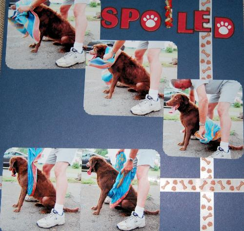 scrapbook layout - one of my many scrapbook pages