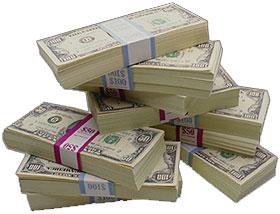 money stacks - a stack mo bills money