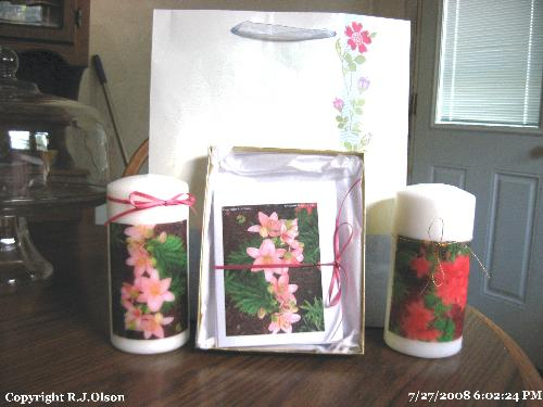 Gift from a myLot friend - This is the gifts that my friwend jillhill made for me. So sweet.