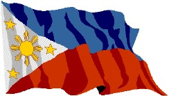 Philippine Flag -  The Philippine National Flag made its first public appearance at General Aguinaldo's declaration of independence from Spain. Prior to this flag, there were several Katipunan flags and war banners and some of the revolutionary generals had their own flags, some of which stand some similarity to the present national flag. The Philippine flag was banned at certain times during the US and Japanese occupation. The exact specifications of the flag were placed down in 1936 although the blue used in the flag has long been an issue of debate amongst historians. The blue was changed to royal blue in 1998 as a compromise to the argument regarding the use of a Cuban blue, American (or navy) blue and sky blue used in previous flags.