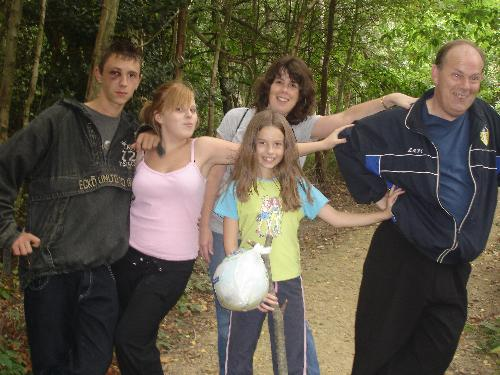 My Son's Family - My Son's family in Buchan Park. Sarah is the one in pink, but with an ex-boyfriend in the pic.