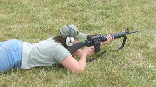 Bullseye! - I had the opportunity to fire a friend's AR15 last year. It's basically the same weapon that I shot while in the Marine Corps (M16A2). I did well, outshot the guys!