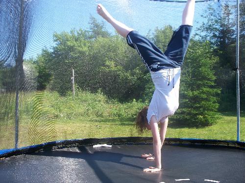 Trampoline - Jess on a trampoline