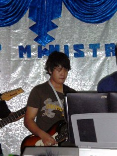 my guitarist friend - My friend is a guitarist. We both are members of a church choir. I sing while he plays the guitar.
