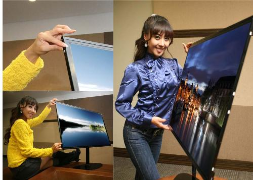"""Samsung 1cm thick 40"""" Full HD LCD - Samsung will introduce a 1cm thick 40"""" Full HD LCD TV at the FPD International 2007"""