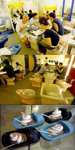 "Toilet restaurant - a new Taiwanese restaurant give you more ""social"" experience while sitting on the toilet"