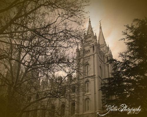 SL Temple - Photograph of the Salt Lake Temple.