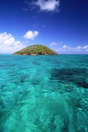 island - a beautiful island on the ocean