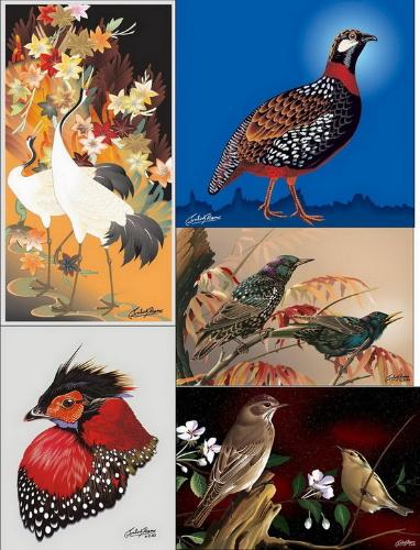 painting for birds - I have received some great images for cute painting birds with a wonderful colors and I have gather them in one image for you all to see it.