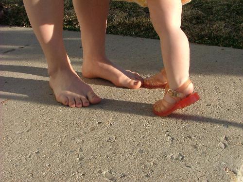 feet - mom and baby feet