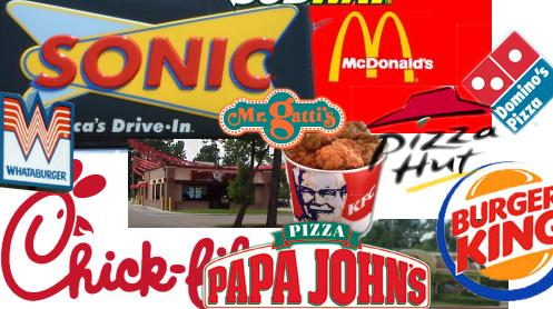 fast food - fast food restaurants everywhere