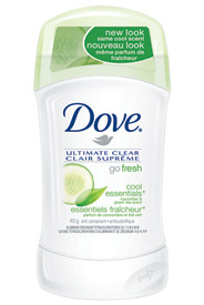 Dove Deodorant - This is Dove's new Go Fresh Line.