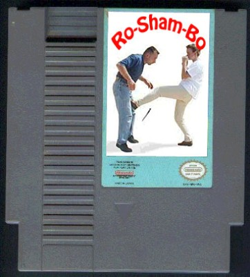 nintendo game - shopped ninendo cartridge, or did you really think there was a roshambo game?