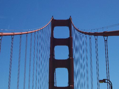 Golden Gate Bridge - Photo I took of the Golden Gate Bridge in San Francisco, California as we were traveling across in our car one day.