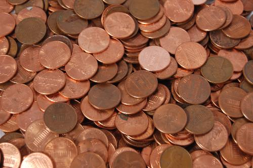 money - picture of some pennies